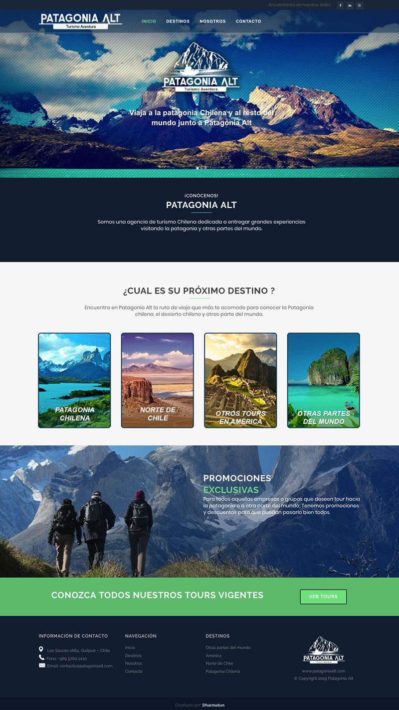 Diseño web - Patagonia Alt