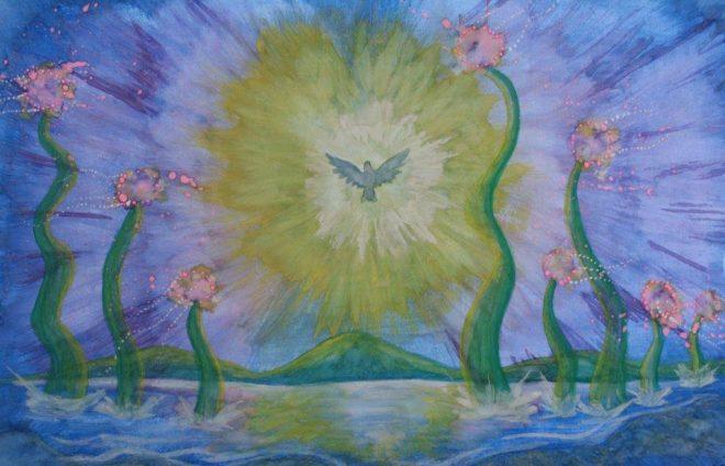 Cuadro Acuarela - El mar de la paz