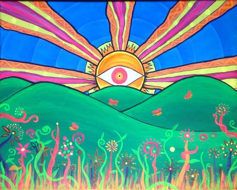 Cuadro de pintura - Astro Sol