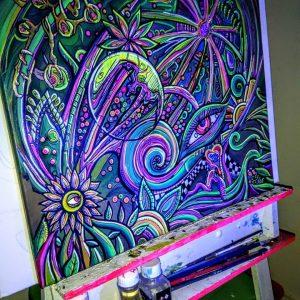 Cuadro de pintura fluor psicodelico | arte visionario, Visionary arts